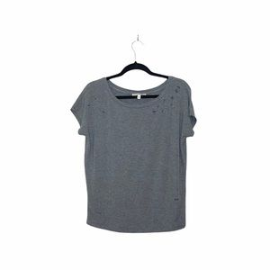 Express One Eleven Gray Distressed Top Sz XS